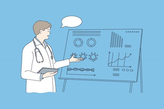 Medizin, präsentation, trainingskonzept