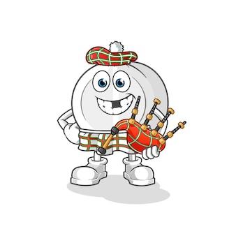 Medizin schottisch mit dudelsack