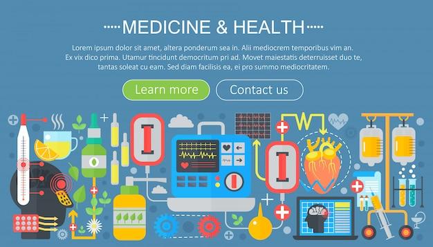 Medizin- und gesundheitsschablonendesign