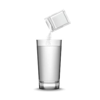 Medizin und glas illustration