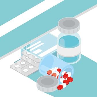 Medizinbehandlung isometrisch