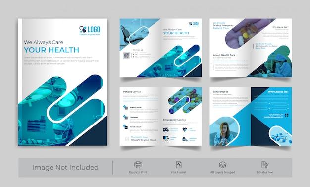 Medizinische 8-seitige broschüre