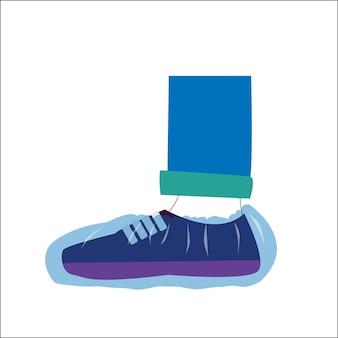 Medizinische abdeckungen an den füßen überschuhe für das krankenhausherbst-winter-schlamm-coronavirus