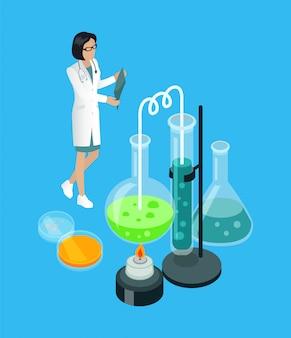 Medizinische arbeitskraft mit röntgenstrahl-illustration