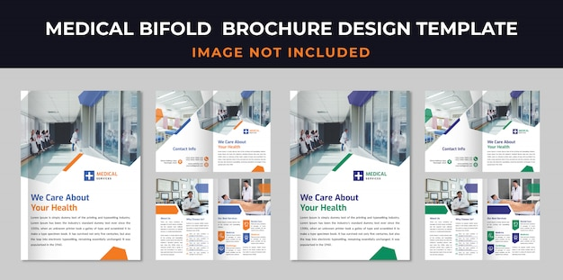 Medizinische bifold broschüre vorlage