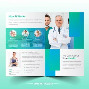 Medizinische bifold-broschüren-schablone