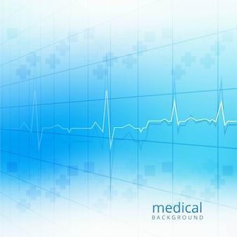 Medizinische blaue hintergrundvektorillustration