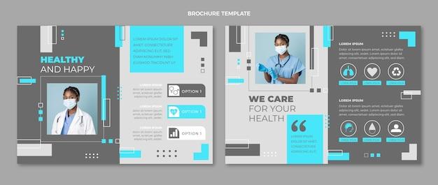 Medizinische broschüre im flachen stil