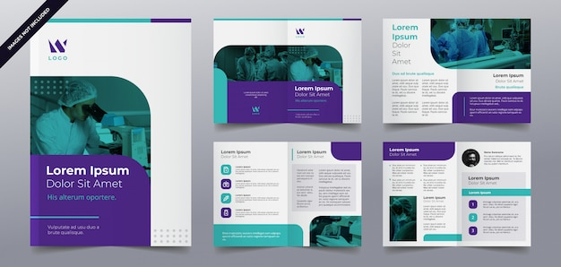 Medizinische broschüre seitenvorlage