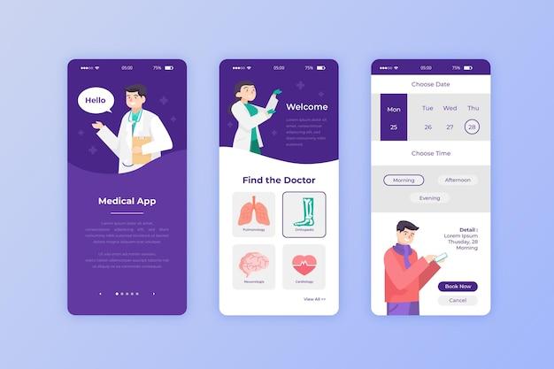 Medizinische buchungs-app für patienten