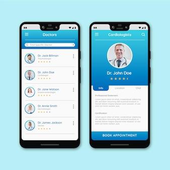 Medizinische buchungs-app mit foto