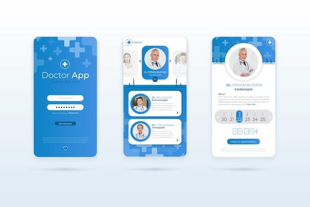 Medizinische buchungs-app