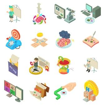 Medizinische bürokratie-icon-set