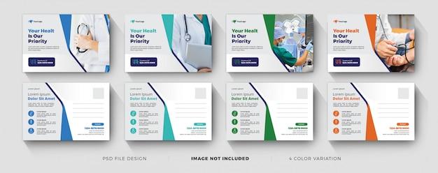 Medizinische business-postkartenvorlagen