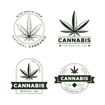 Medizinische cannabis-abzeichen gesetzt