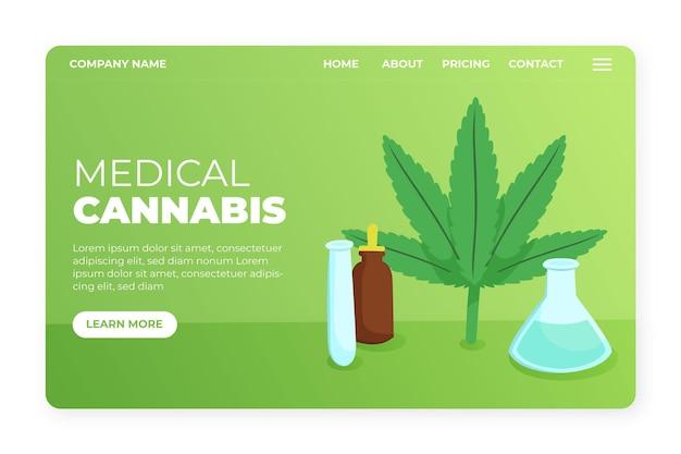 Medizinische cannabis-landingpage-vorlage