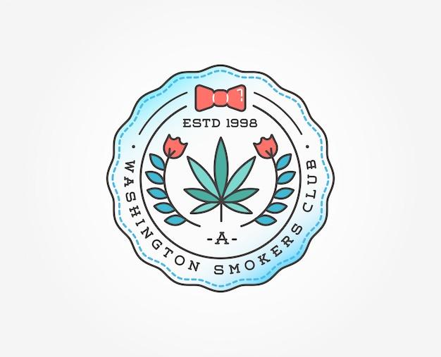 Medizinische cannabis marihuana abzeichen vorlage