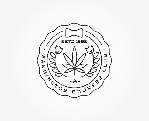 Medizinische cannabis marihuana-zeichen oder etikettenvorlage