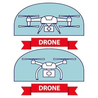 Medizinische drohnenlieferung von medikamenten mit quadrocopter