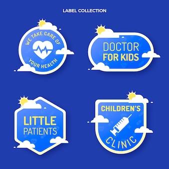 Medizinische etikettenkollektion mit farbverlauf