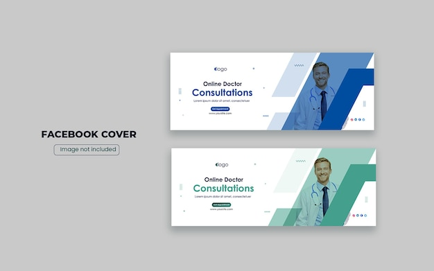 Medizinische facebook-cover-design-vorlage oder social-media-banner-design
