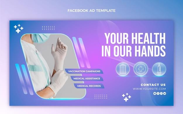 Medizinische facebook-vorlage mit farbverlauf