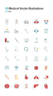 Medizinische flache illustration
