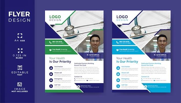 Medizinische flyer-vorlagen