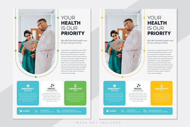 Medizinische gesundheitswesen flyer vorlage