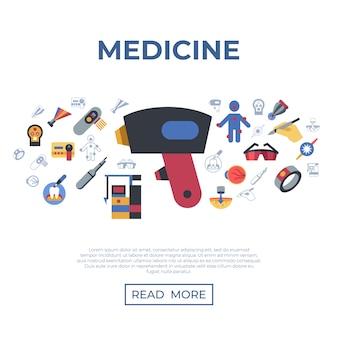 Medizinische gesundheitswesen laser-icons