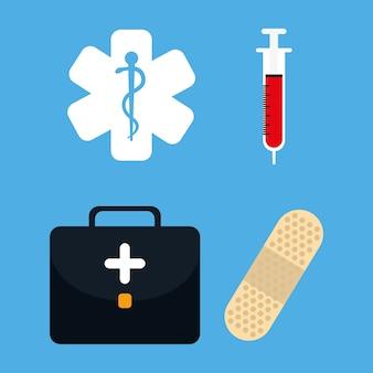 Medizinische gesundheitswesenikonen