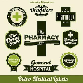 Medizinische grünen etiketten