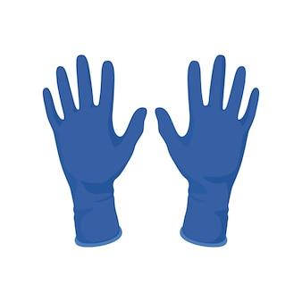 Medizinische handschuhe auf lokalisiertem weißem hintergrund für krankenhauschirurgen und bleiben gesundheit.