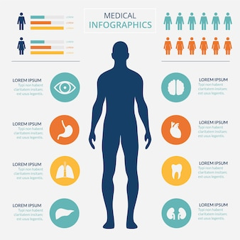 Medizinische healtcare infografische