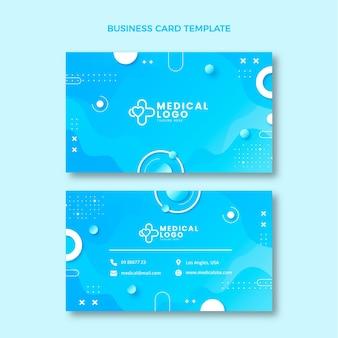 Medizinische horizontale visitenkarte mit farbverlauf