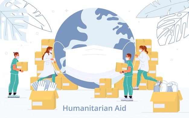 Medizinische humanitäre hilfe in der coronavirus-krise
