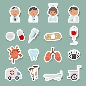 Medizinische icons gesetzt