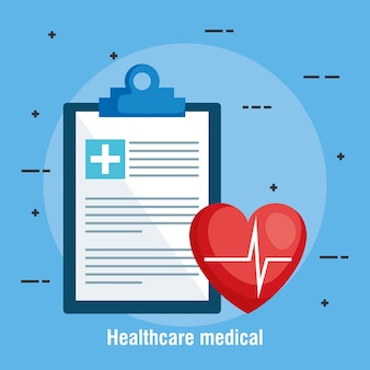 Medizinische ikonen der checklistengesundheitswesen