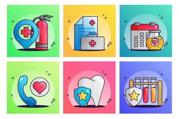 Medizinische illustration gesetzt