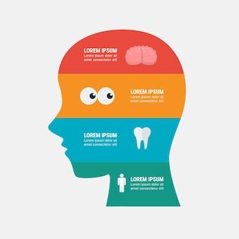 Medizinische infografik-design-vorlage. vektor-illustration.