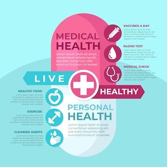 Medizinische infografik illustration