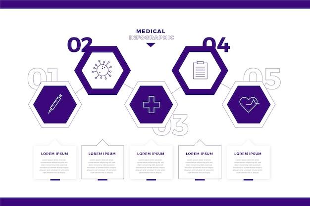 Medizinische infografik im vorlagenstil