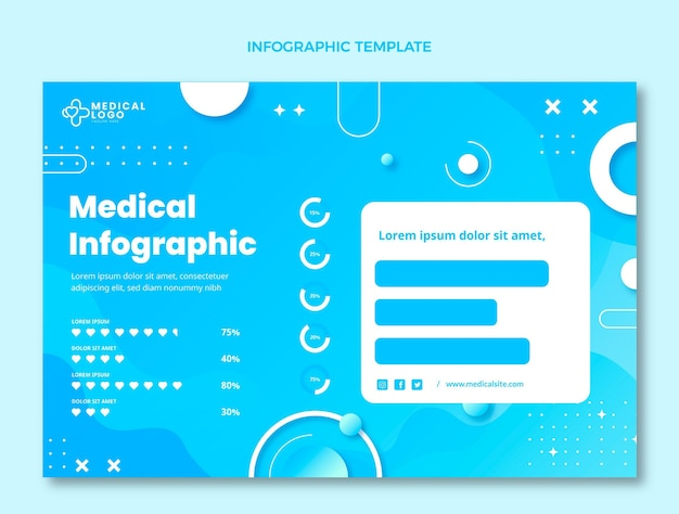 Medizinische infografik mit farbverlauf