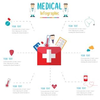 Medizinische infografik. vektor-illustration