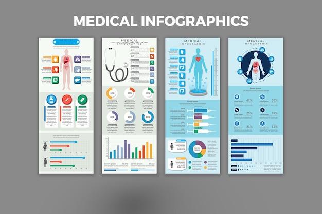 Medizinische infografik-vorlagen-design