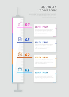Medizinische infografiken in flachem design