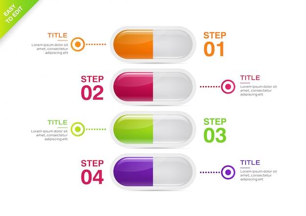 Medizinische infographik template-design