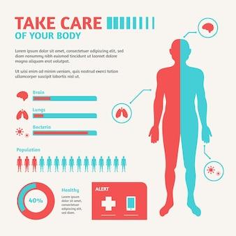 Medizinische infographik vorlage