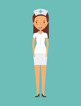 Medizinische krankenschwester frau symbol