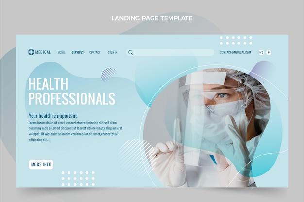 Medizinische landingpage im farbverlauf